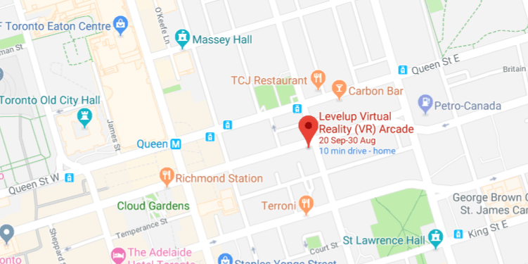 Levelup Virtual Reality Map