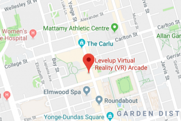 Levelup VR Arcade map